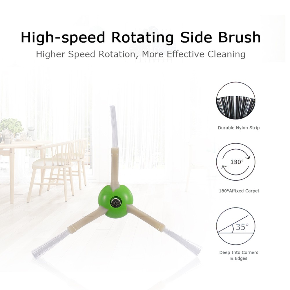 Robotic Vacuum Cleaner Filters Sweeping Brushes Multi-surface Rubber Brush Kit Replacement Accessories for iRobot Roomba i7 i7+ i7 Plus E5 E6 E7 Series Robotic Vacuum Cleaner
