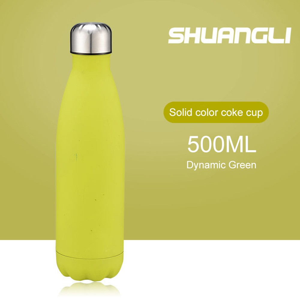 Water Bottle Stainless Steel 500ml Vacuum Insulated Cup Insulated Water Bottle Rubber Paint Keeps Cold Hot for Long Time