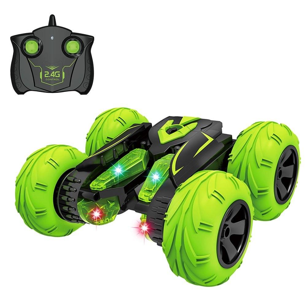 RC Stunt Car 2.4Ghz 3D Rotating Drift Fancy Stunt Car Racing Drift Deformation Buggy LED Flip Car Kids Robot Electric Boy Toys for Children