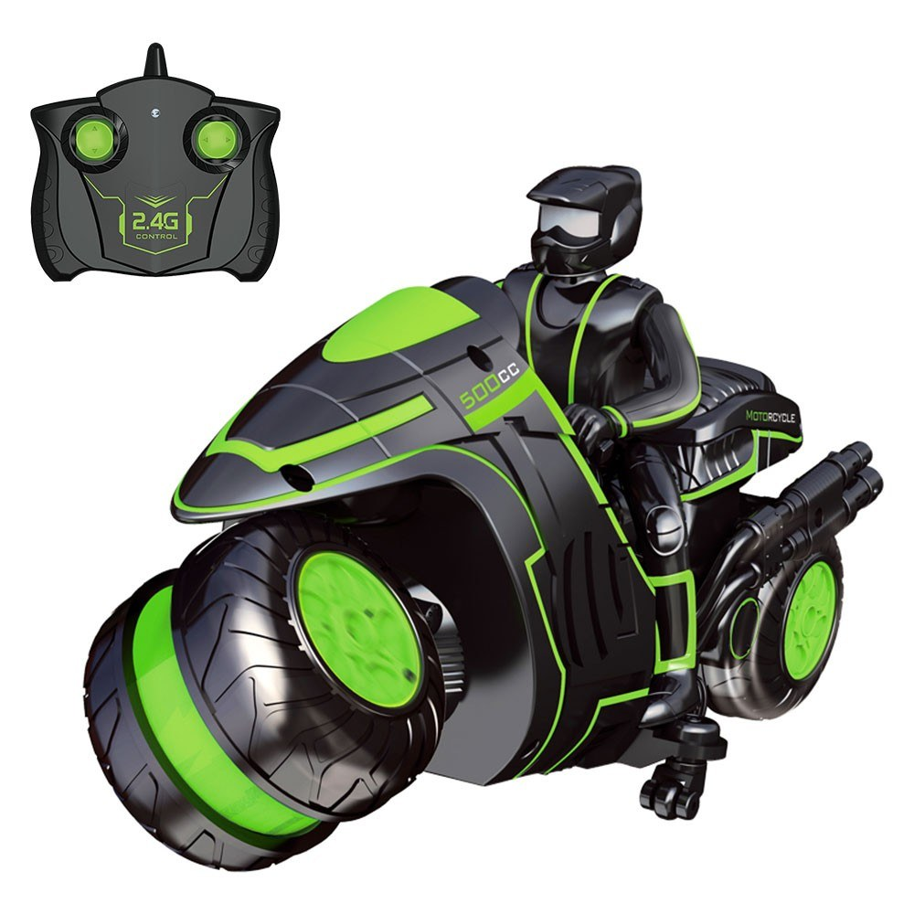 RC Stunt Car Motorcycle 2.4Ghz 3D Rotating Drift Stunt Car Racing Motorbike Kids Motorcycle Electric Remote Control Boy Toys for Children