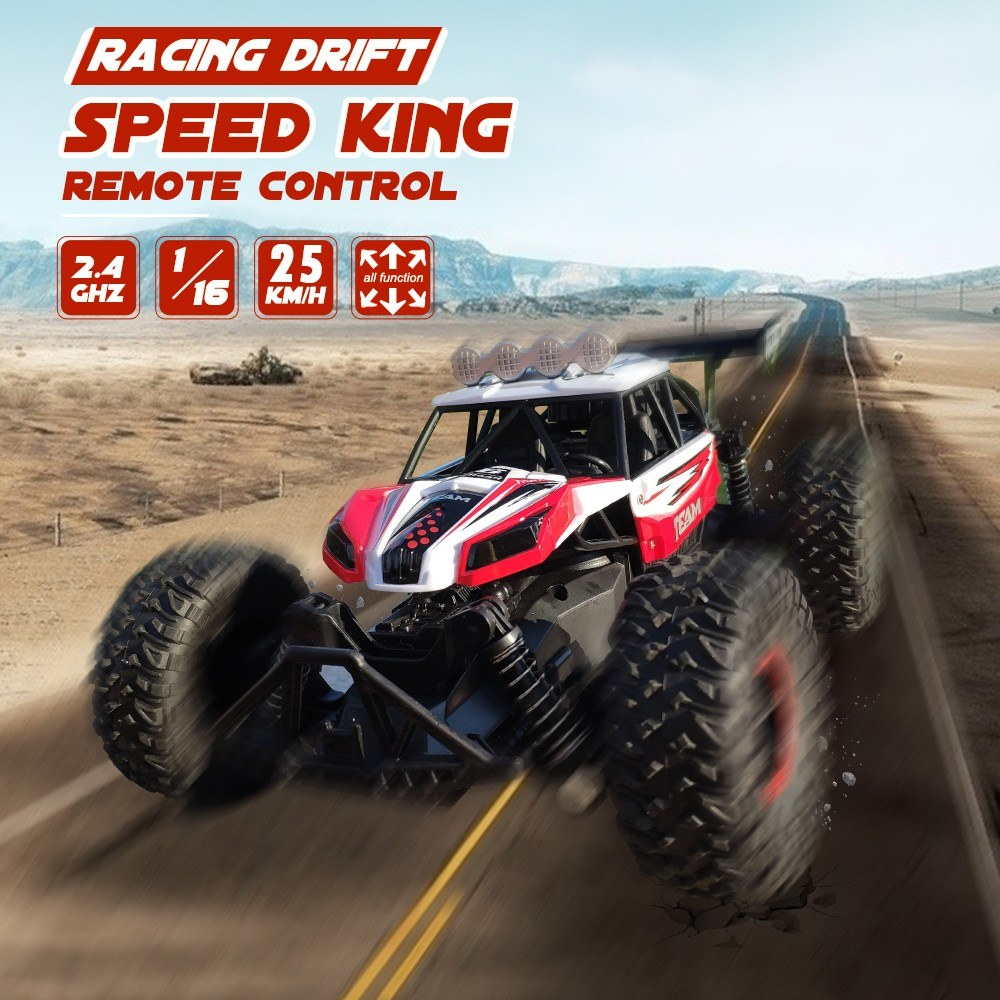 RC Car 1/16 Scale 2.4Ghz Remote Control Car Off Road RC Trucks with Rechargeable Battery Racing Toy Car for Kids