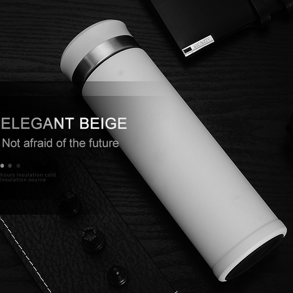 Water Bottle Stainless Steel 500ml Vacuum Insulated Cup LCD Temperature Display Intelligent Water Bottle Keeps Cold Hot for 24 hours