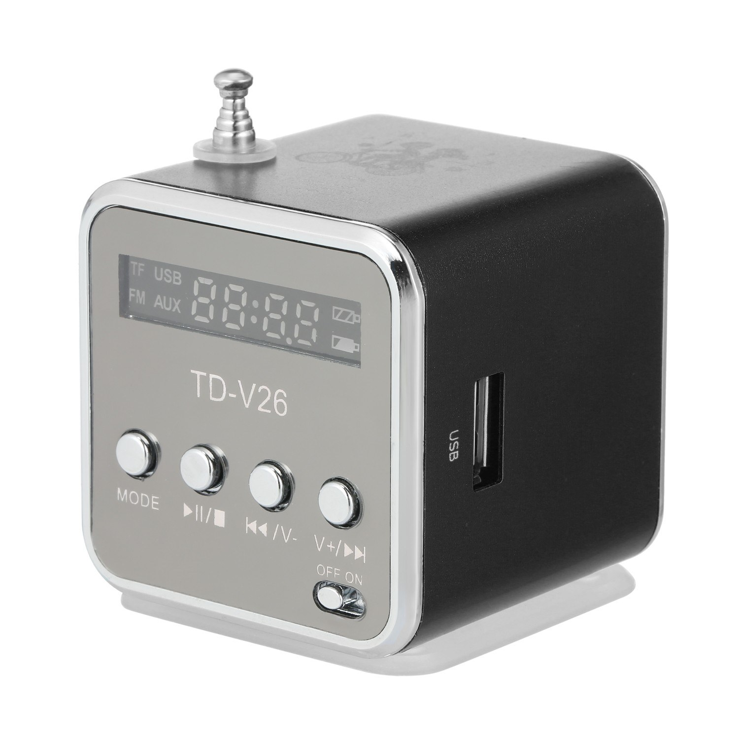 3.5mm Wired Mini Speaker Portable MP3 Player FM Radio Music Amplifier Support TF Card U Disk Loudspeaker for DVD Laptop Mobile Phone