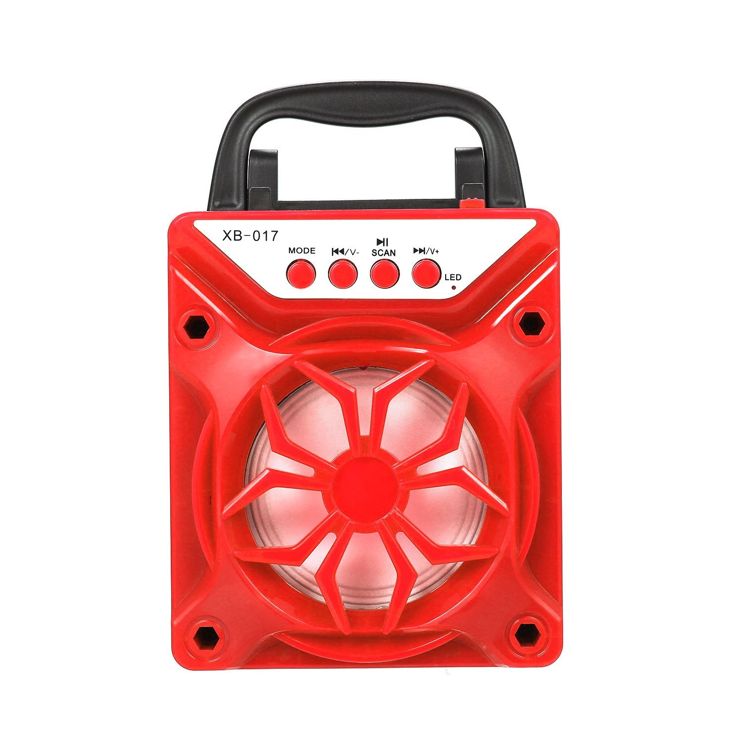 Portable BT Outdoor Speaker Support TF Card Square Dance Audio Red