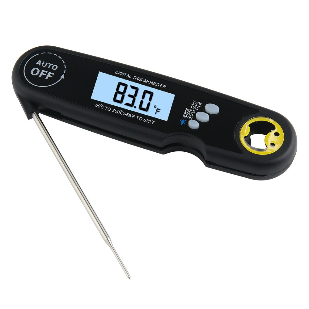 Foldable Digital Thermometer Waterproof Food Thermometer Probe Meat Steak BBQ Temperature Gauge Kitchen Cooking Tools