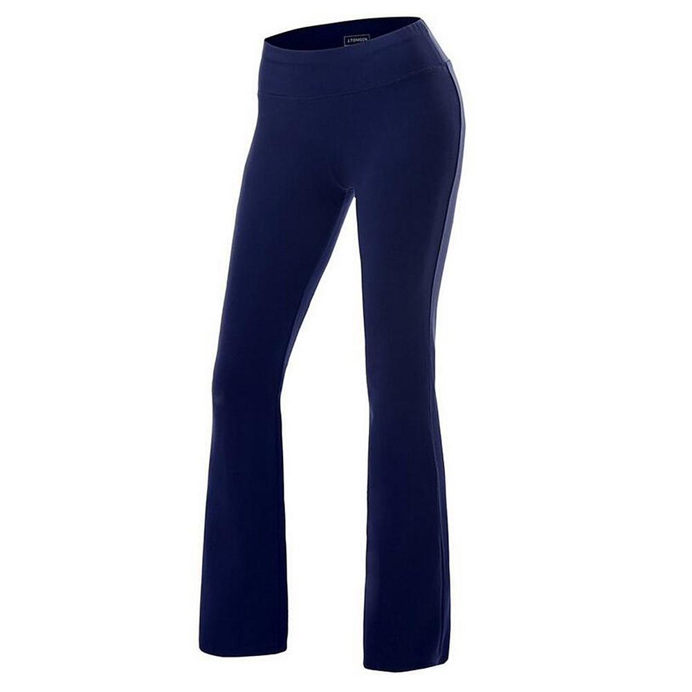 Women Boot-Cut Yoga Pants Tummy Control Workout Casual Yoga Pants