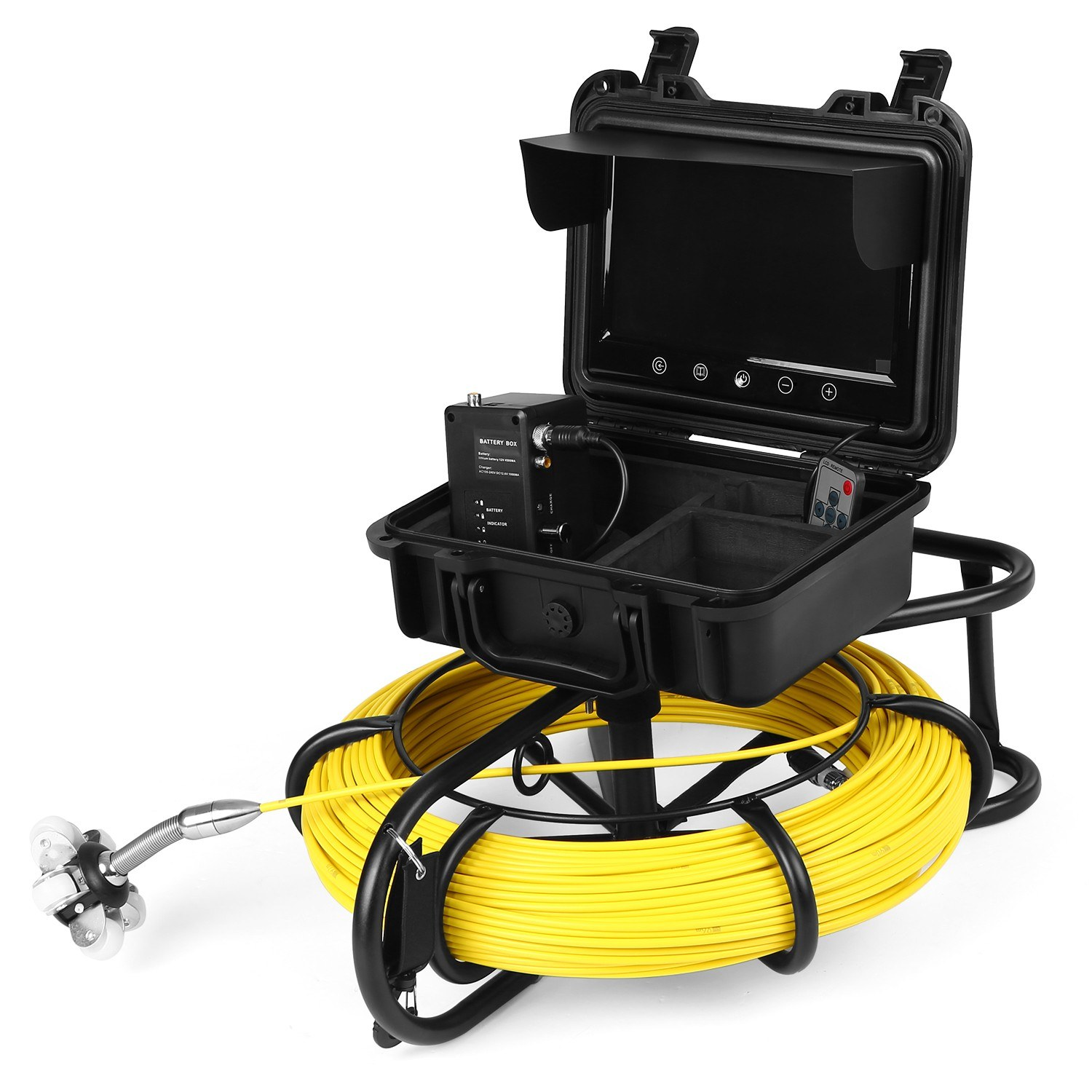 9 Inch 100M Pipe Inspection Camera Drain Sewer Pipeline Industrial Endoscope Snake Camera with Meter Marking