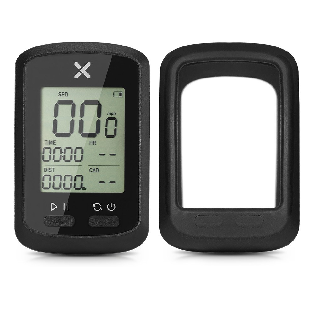 Smart GPS Cycling Computer BT ANT+ Wireless Bike Computer Digital Speedometer IPX7 Accurate Bike Computer with Protective Cover
