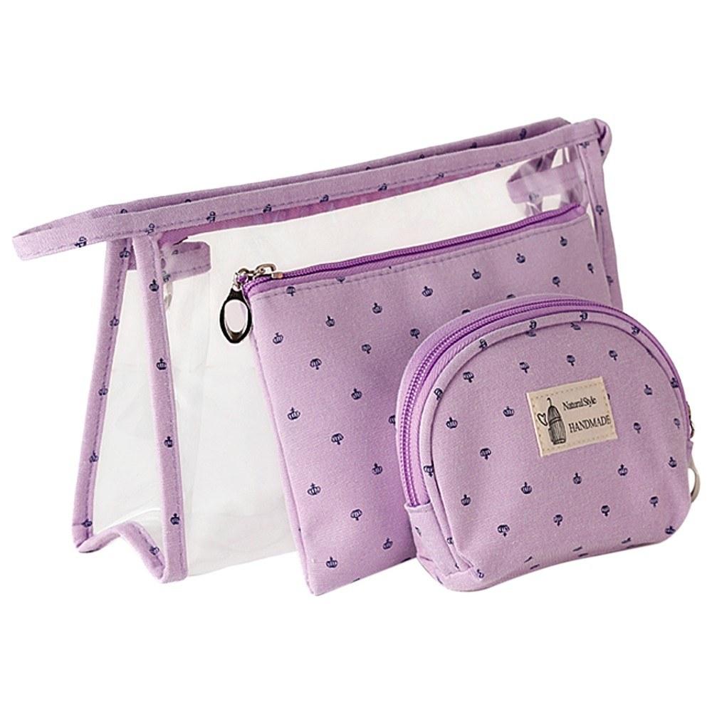 3 PCS Cosmetic Makeup Bags Women Men Travel Toiletry Bag Set in Small Medium Large Size