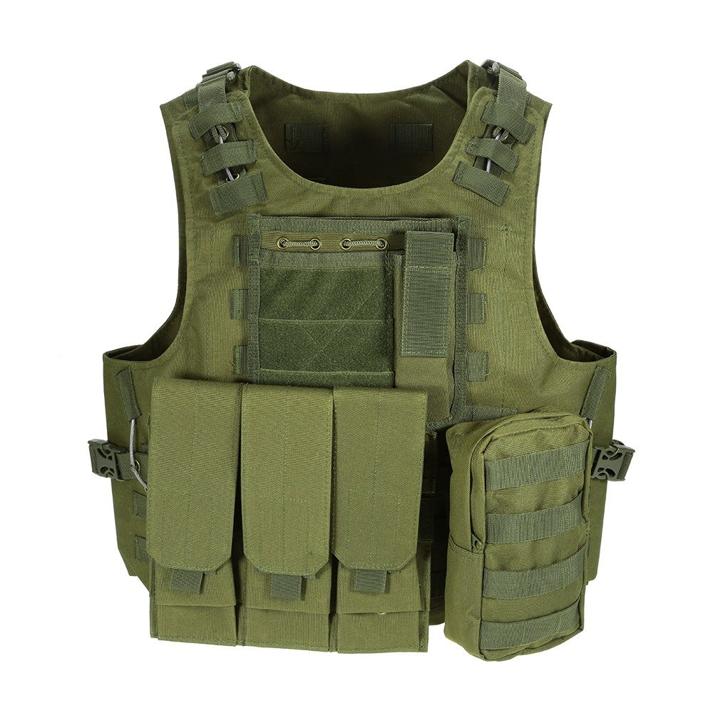 Outdoor Molle Vest Modular Gear Carrier Adjustable Training Gaming Paintball Assault Vest