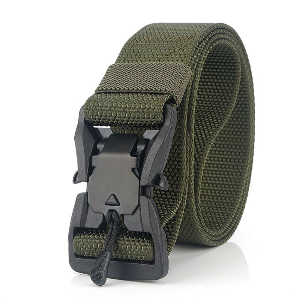 Adjustable Webbing Belt Men Women Belts with Quick Release Magnetic Buckle for Camping Hiking