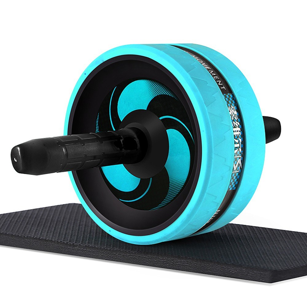 Abdominal Roller Home Office Gym Fitness Workout Equipment Exercise Wheel No Noise with Knee Pad