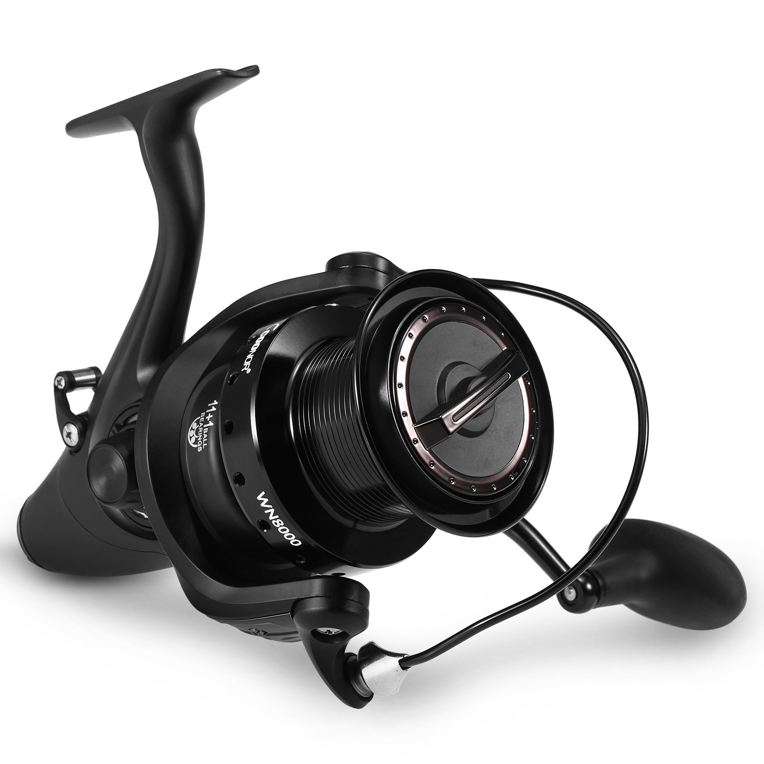 11+1BB 5.1:1 Spinning Fishing Reel Interchangeable Left/Right Handle Front Rear Drag Sea Rock Fishing Spinning Reel