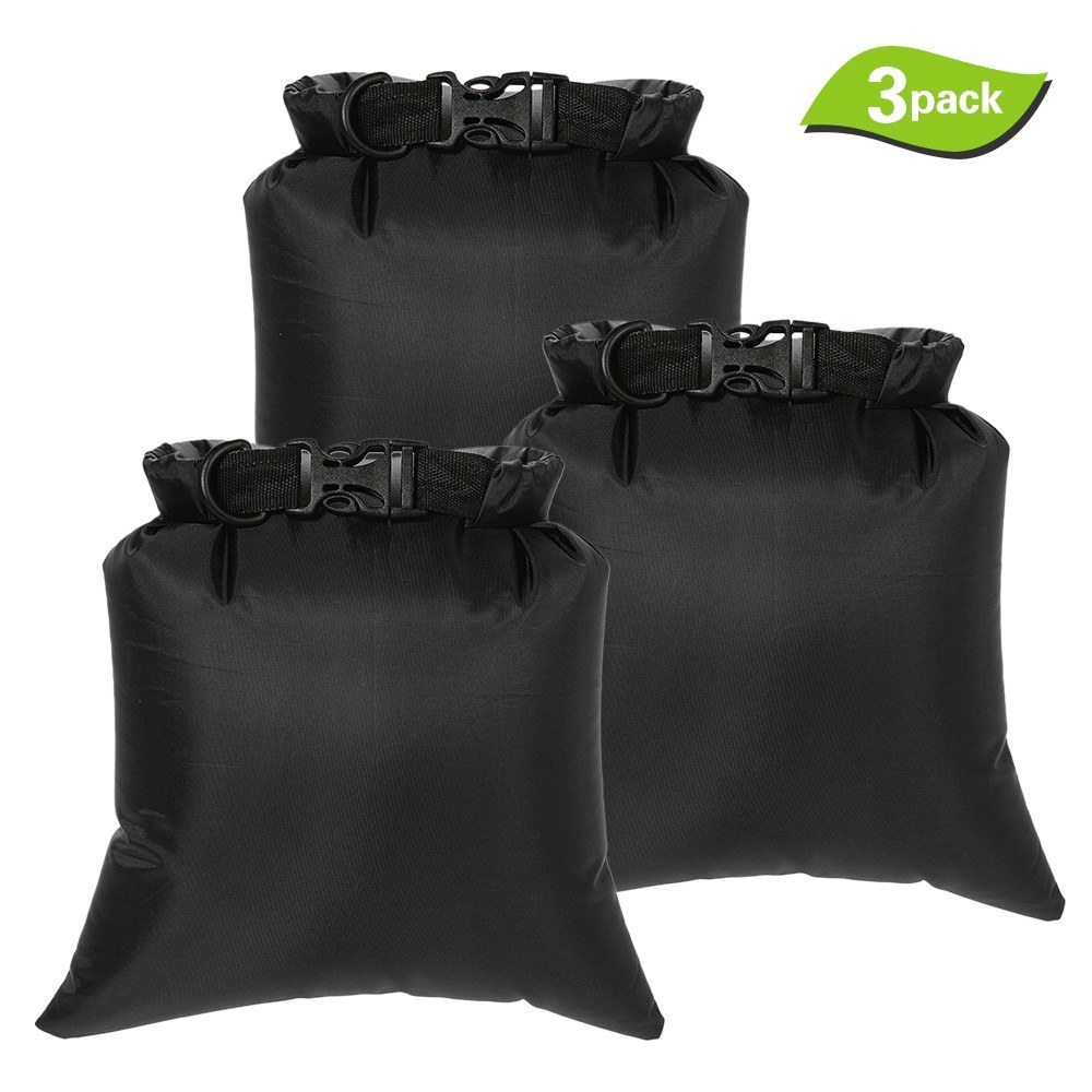 3Pcs 8L Outdoor Waterproof Storage Bags Dry Sacks Smartphone Camera Storage Bags for Drifting Water Sports