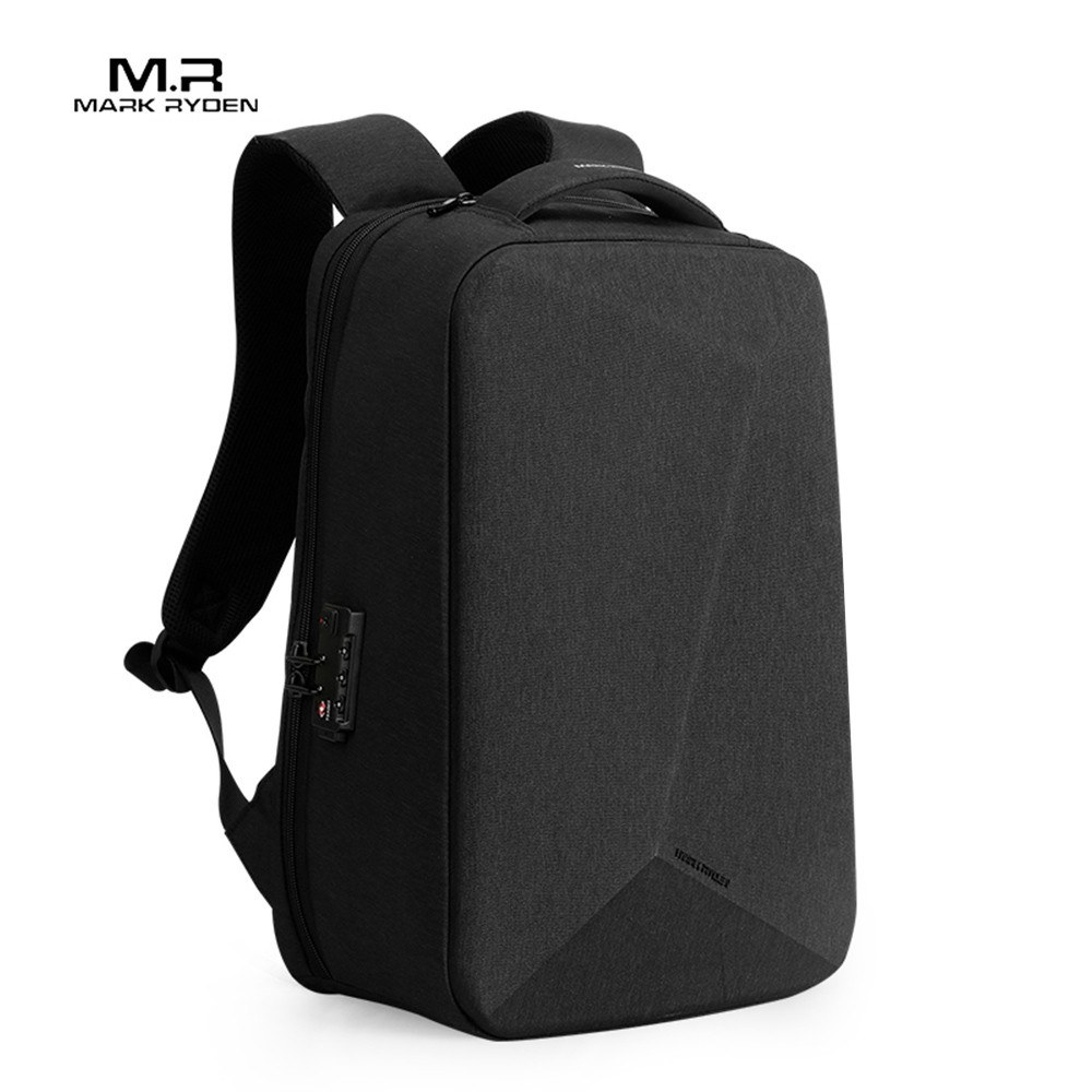 Mark Ryden Portable Anti-Theft Coded Lock Multi-Function Large Capacity Waterproof USB Business Backpack Laptop Bag With Cloak