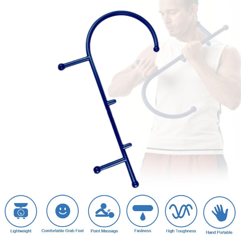 Trigger Point Massage Stick Full Body Muscle Pain Relief Handheld Massage Stick Back Hook Massager