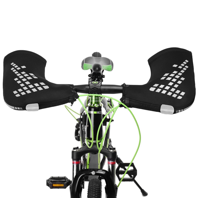 Mountain Bike Handlebar Mittens Windproof Bike Motorcycle Bar Mitts Thermal Covers Reflective Bike Handle Warmer
