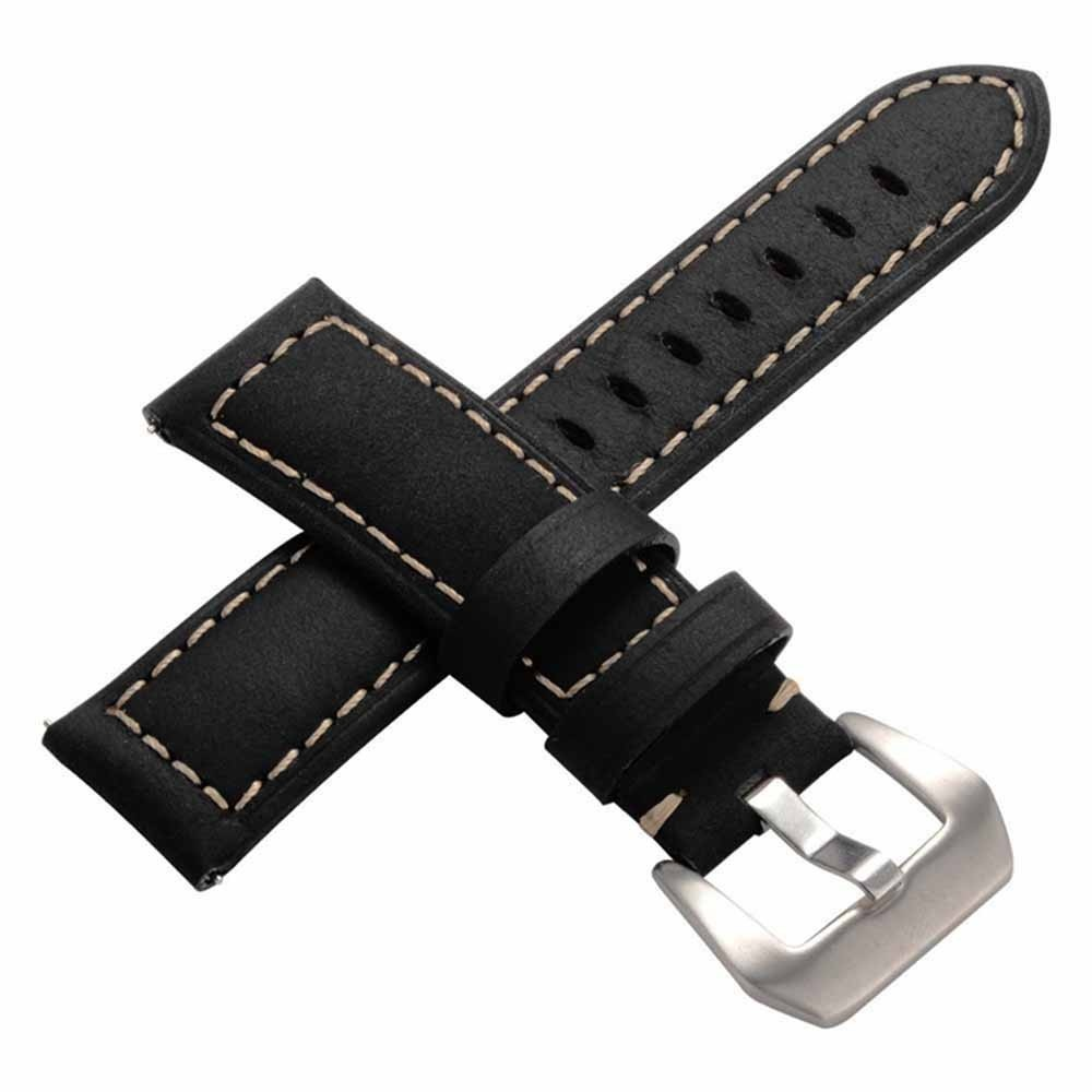 For Samsung Galaxy Watch Premium  Vintage Crazy Horse Genuine Leather Strap Watchband for Samsung Gear S3  Frontier Classic