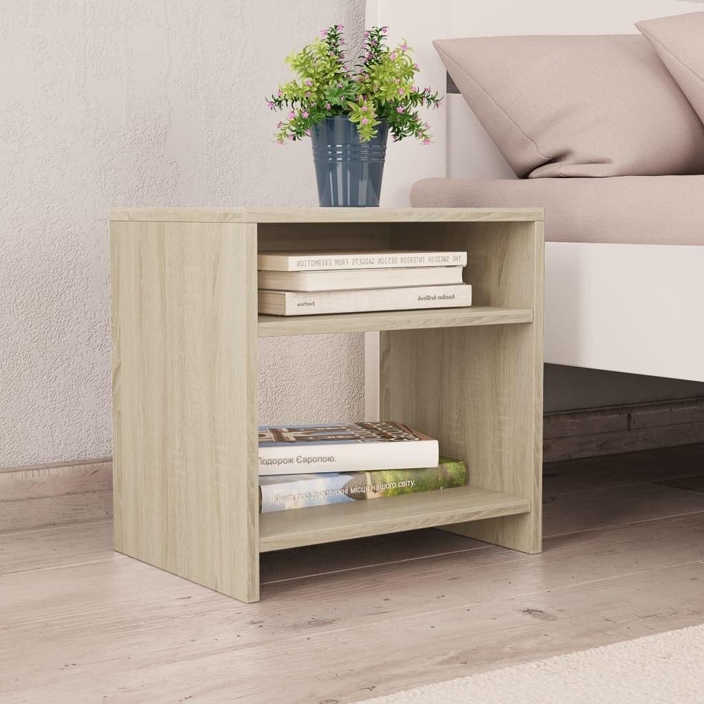 Oak Sonoma bedside tables 2 pcs 40x30x40 cm in chipboard