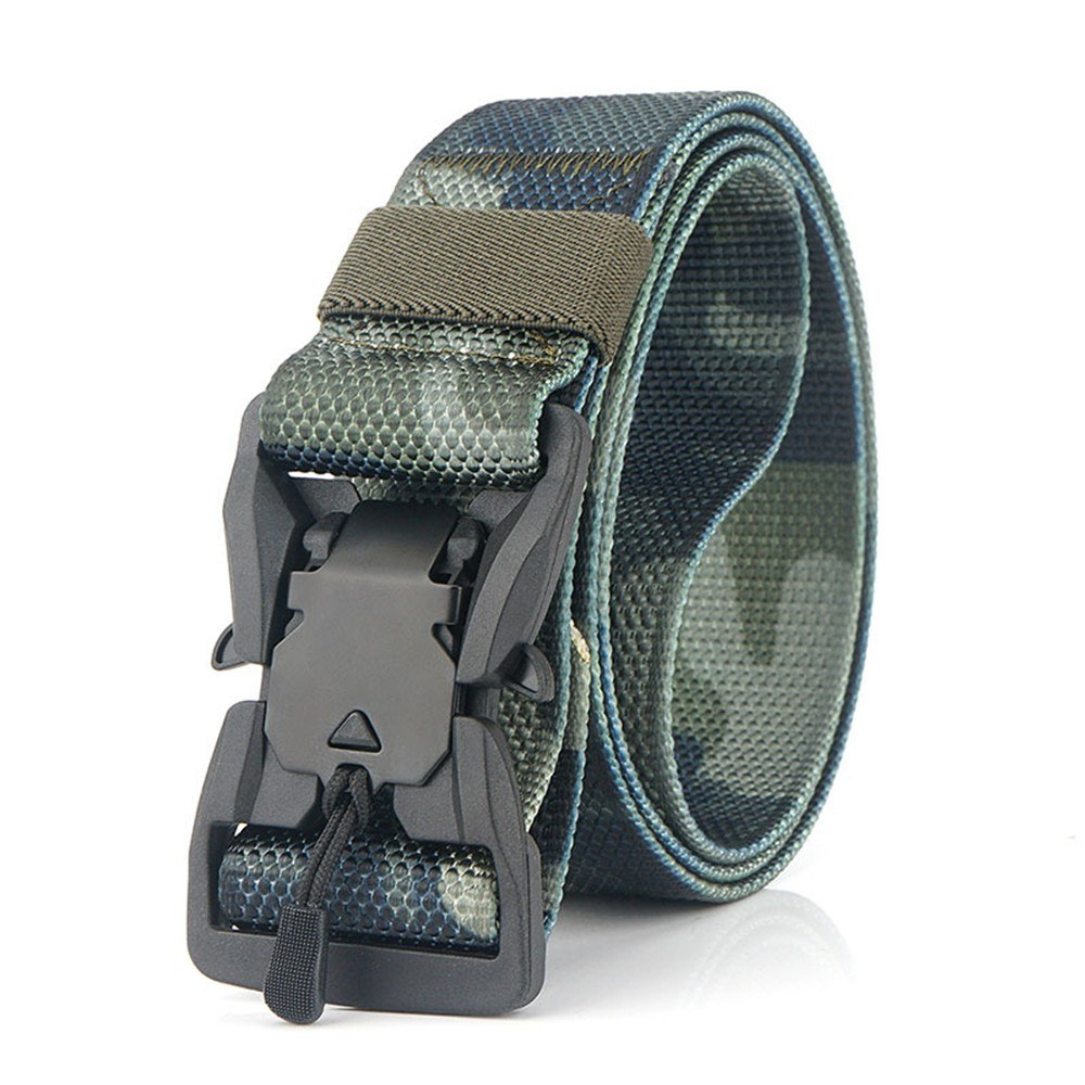 Adjustable Webbing Belt Men Women Belts with Quick Release Magnetic Buckle for Camping Hiking