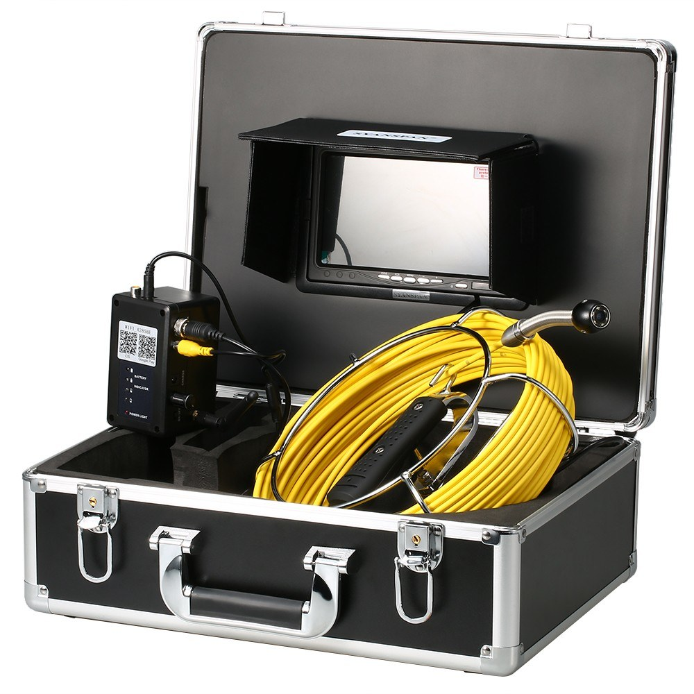7 Inch Wireless WiFi 20/30/40M Pipe Inspection Camera Drain Sewer Pipeline Industrial Endoscope with Meter Marking