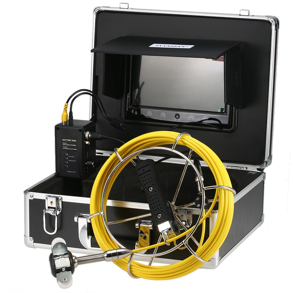 9 Inch 20M/30/40M Pipe Inspection Camera Drain Sewer Pipeline Industrial Endoscope Snake Camera
