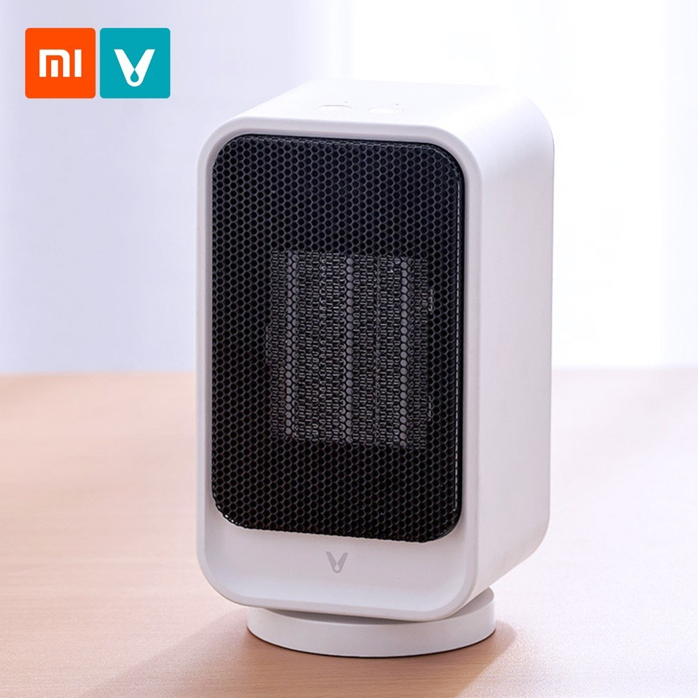 Xiaomi Yunmi VIOMI VXNF02 Mini Electric Heater 800W Desktop 60° Wide Angle Heater with Cold and Warm Models Desktop Warmer Heater with Safety Overheating Power Off Protection Quick Heat up for Home Office