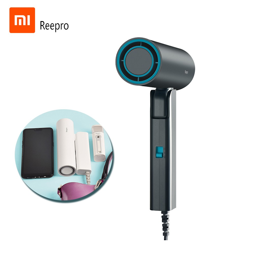 Xiaomi Youpin Reepro Mini Hair Dryer 550W Professional Hairdryer Quick Dry Portable Folding Handle Hairdressing Barber Blower for School Dormitory RP-HC03 220V