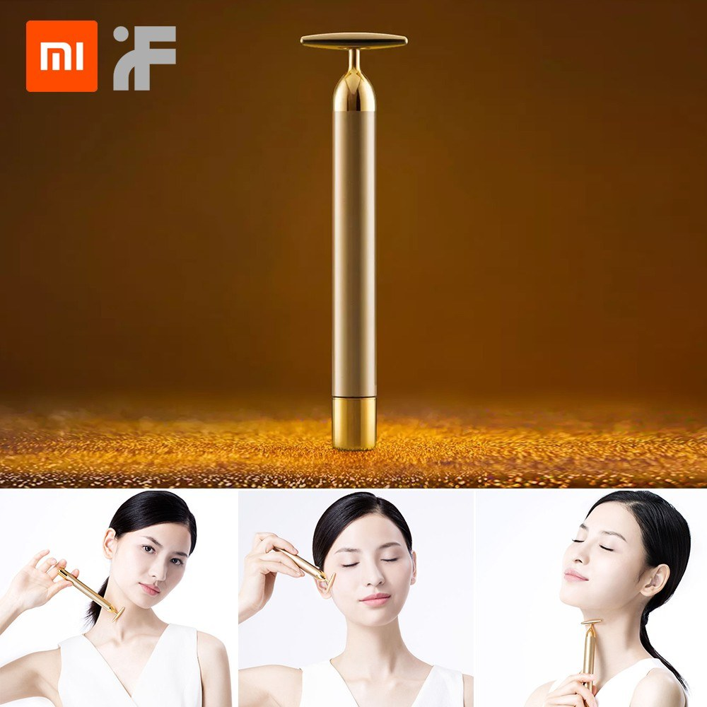 Xiaomi inFace Face Beauty Bar Slimming Face Roller Stick Lift Skin Tightening Wrinkle Bar Face lifting Eliminate Edema SPA Women Girls Gift MS3000
