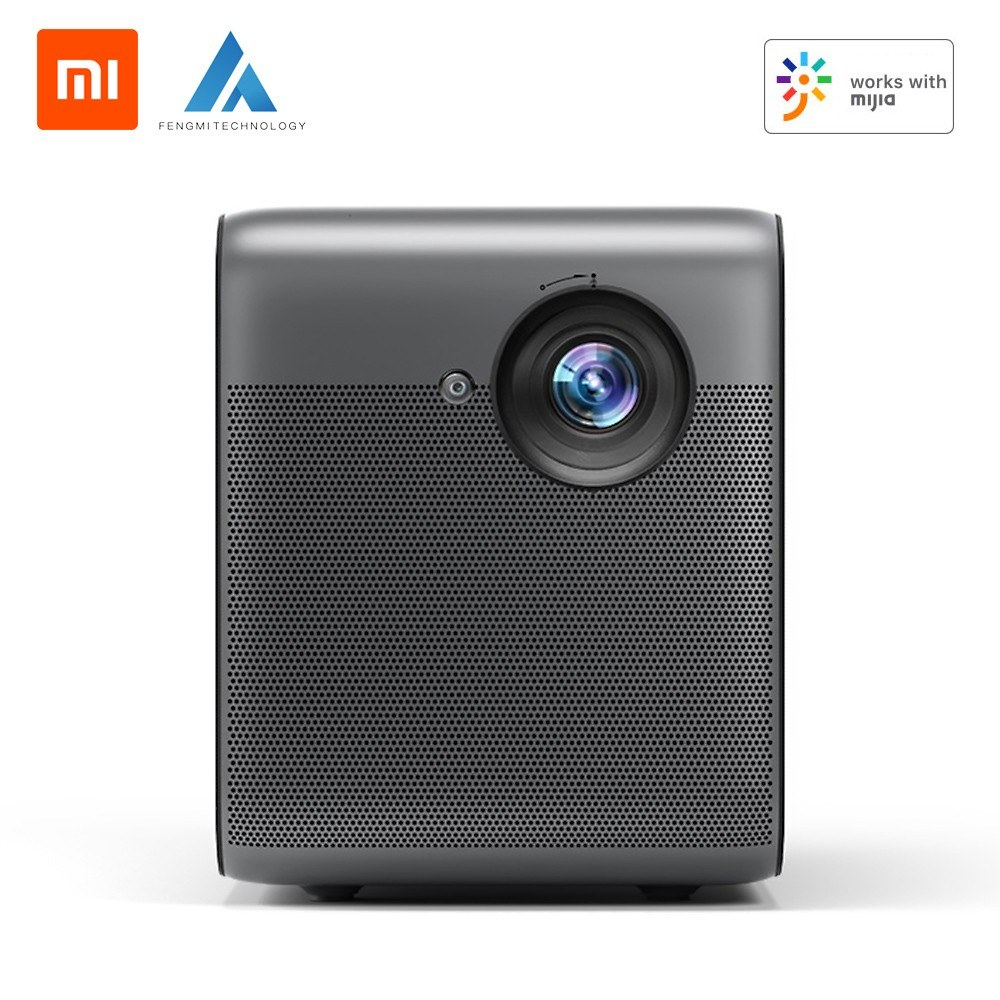 Xiaomi Youpin Fengmi Smart Lite LED Projector 1080P 550ANSI Lumens AI BT Voice Remote Control Life Home Theater Video Projector Lightweight Portable 3D Home Entertainment Projector 4K for TV Box/Laptop/U Disk CN Version