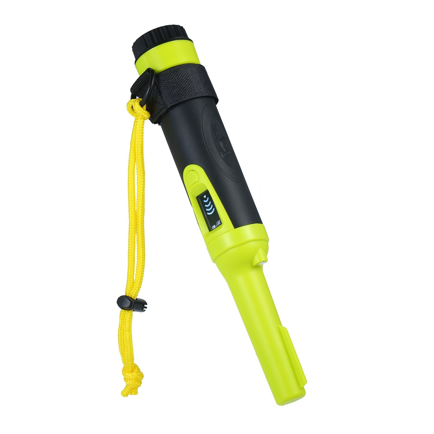 Handheld Pinpointer Metal Detector with Screen Display Portable Pin Pointer Waterproof Metal Pointer Treasure Hunting Tool Metal Locator Buzzer Vibration Automatic Tuning with Belt Holster