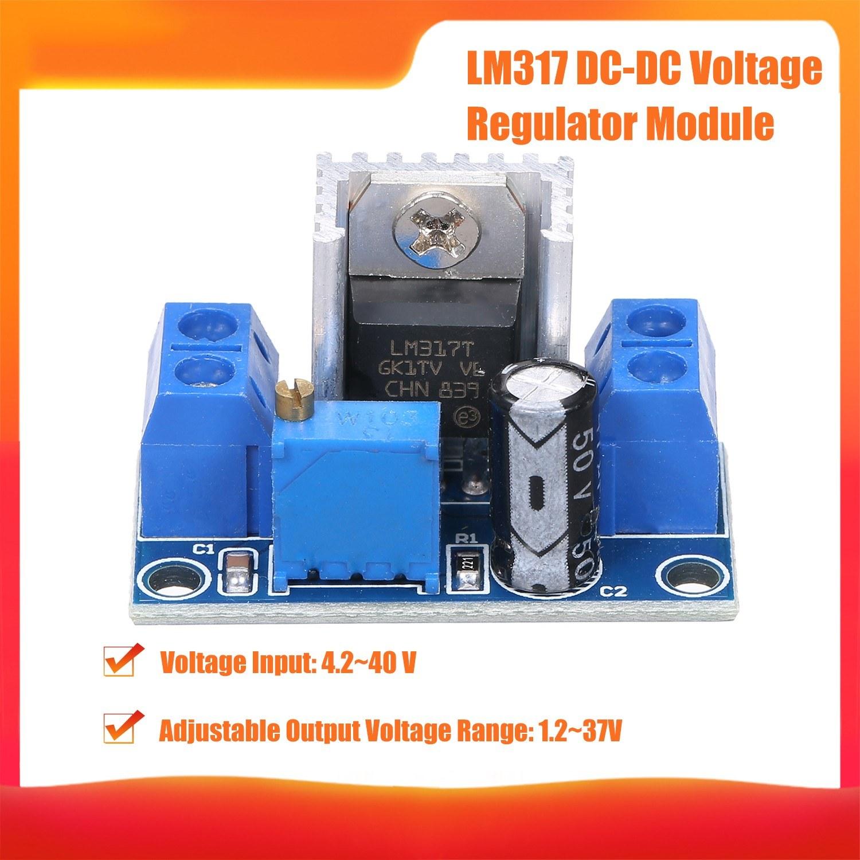 LM317 dc-dcConverter Step-Down Board Buck Module Variable Power Supply dc-dc 4.2~40V to 1.2~37V Adjustable Converter Voltage Regulator Module