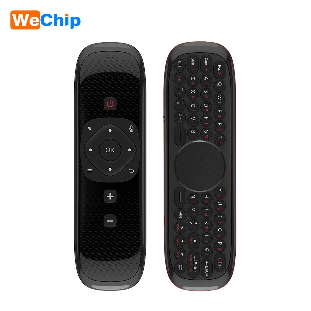 Wechip W2 2.4G Air Mouse Wireless Keyboard with Touchpad Mouse Infrared Remote Control for Android TV BOX PC Projector