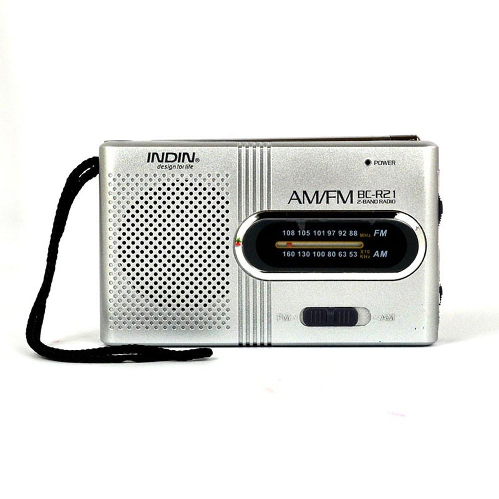 Mini Radio Portable Speaker AM FM Adjustable Telescopic Antenna Pocket Radios