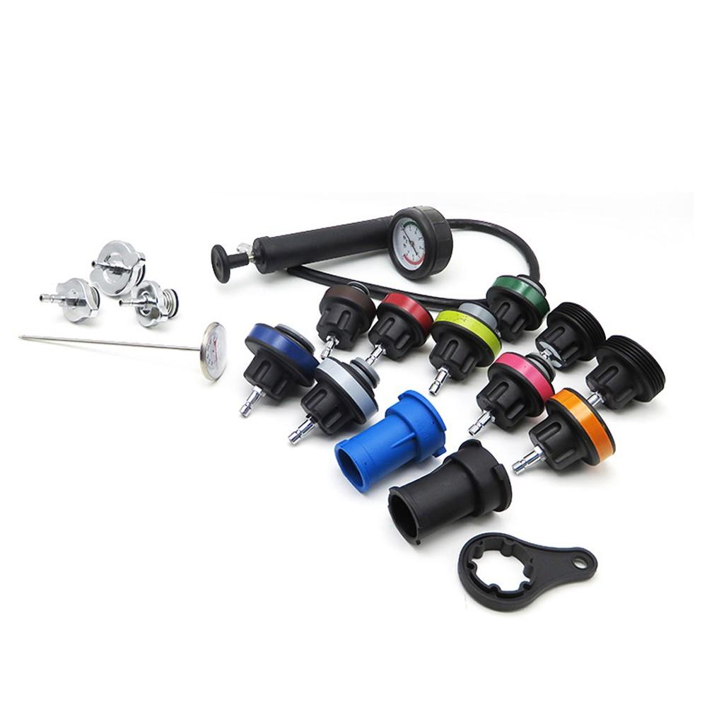 18Pcs Radiator Pressure Compression Tester Kit Cooling System Car Repairing Leak Detector Tool