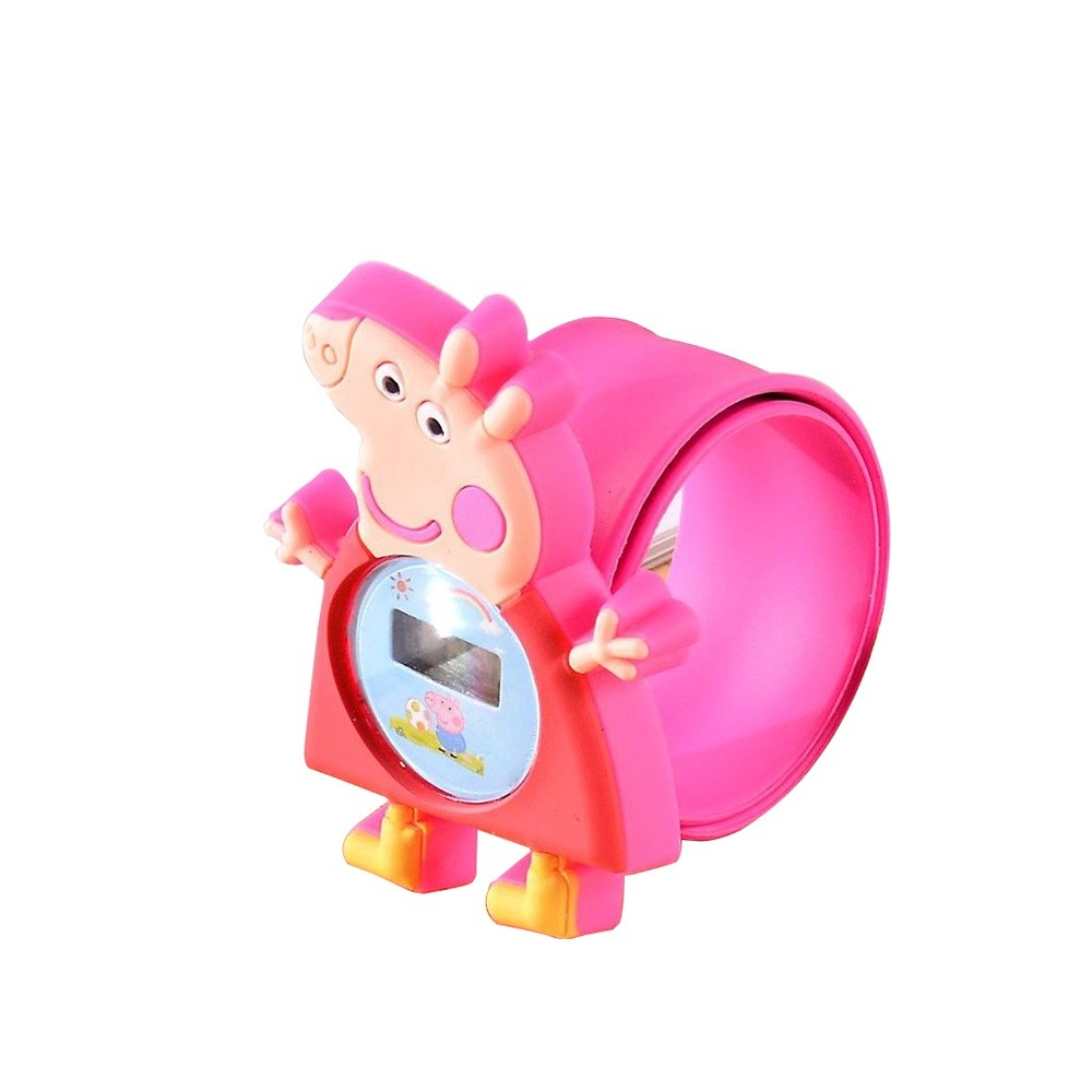 Pink pig Pepe cartoon pig anime children watch patted table baby toy watch holiday gift wholesale Rose