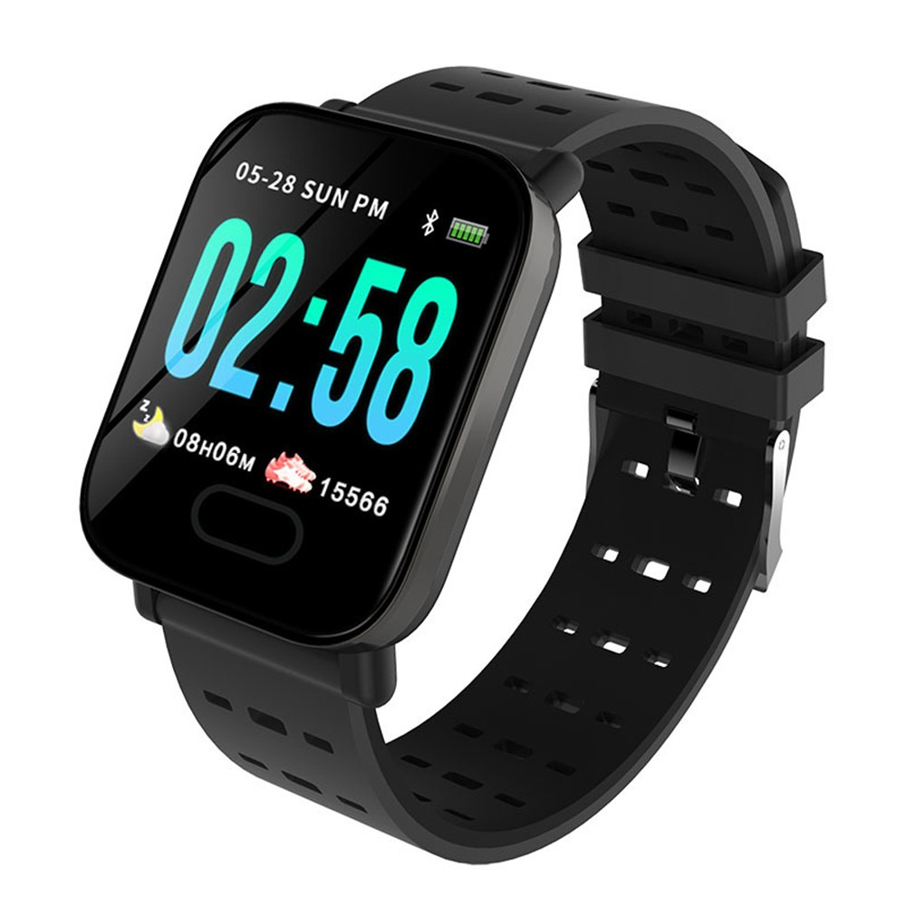 A6 color screen smart bracelet m20 real-time heart rate sleep monitoring 1.3 inch IP67 waterproof factory direct sales Music - orange
