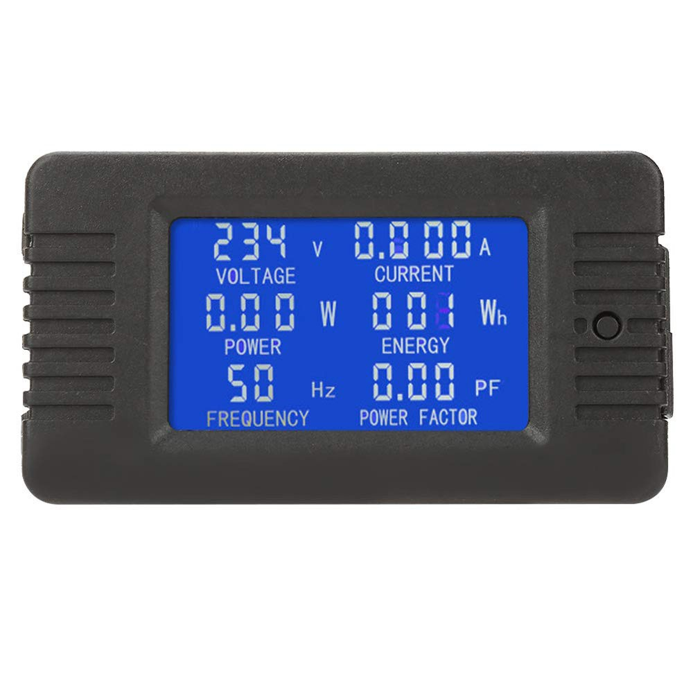 PZEM-020 10A AC Digital Display Power Monitor Meter Voltmeter Ammeter Frequency Current Voltage Factor Meter