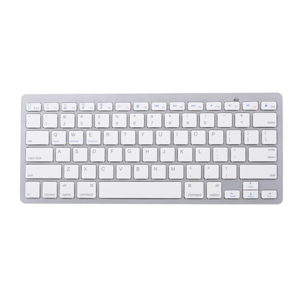Portable BT3.0 Wireless Keyboard Tablet Laptop Smartphone iPad Mini Keyboard for iOS Android Windows(White)