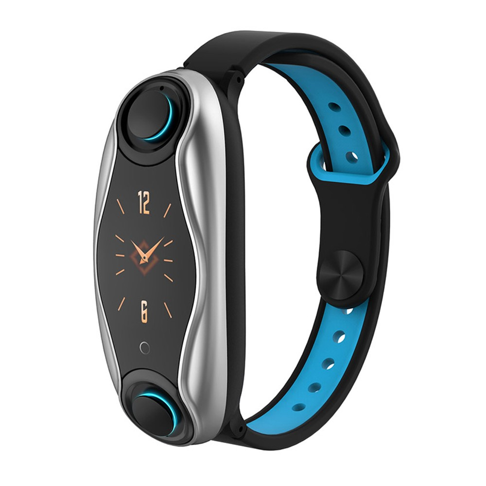 T90 2-in-1 Smart Watch & TWS Earbuds Bluetooth 5.0 True Wireless Headphones Touch Control Built-in Microphone Fitness Bracelet Health Tracker Magnetic Charging Compatible with Xiaomi Apple