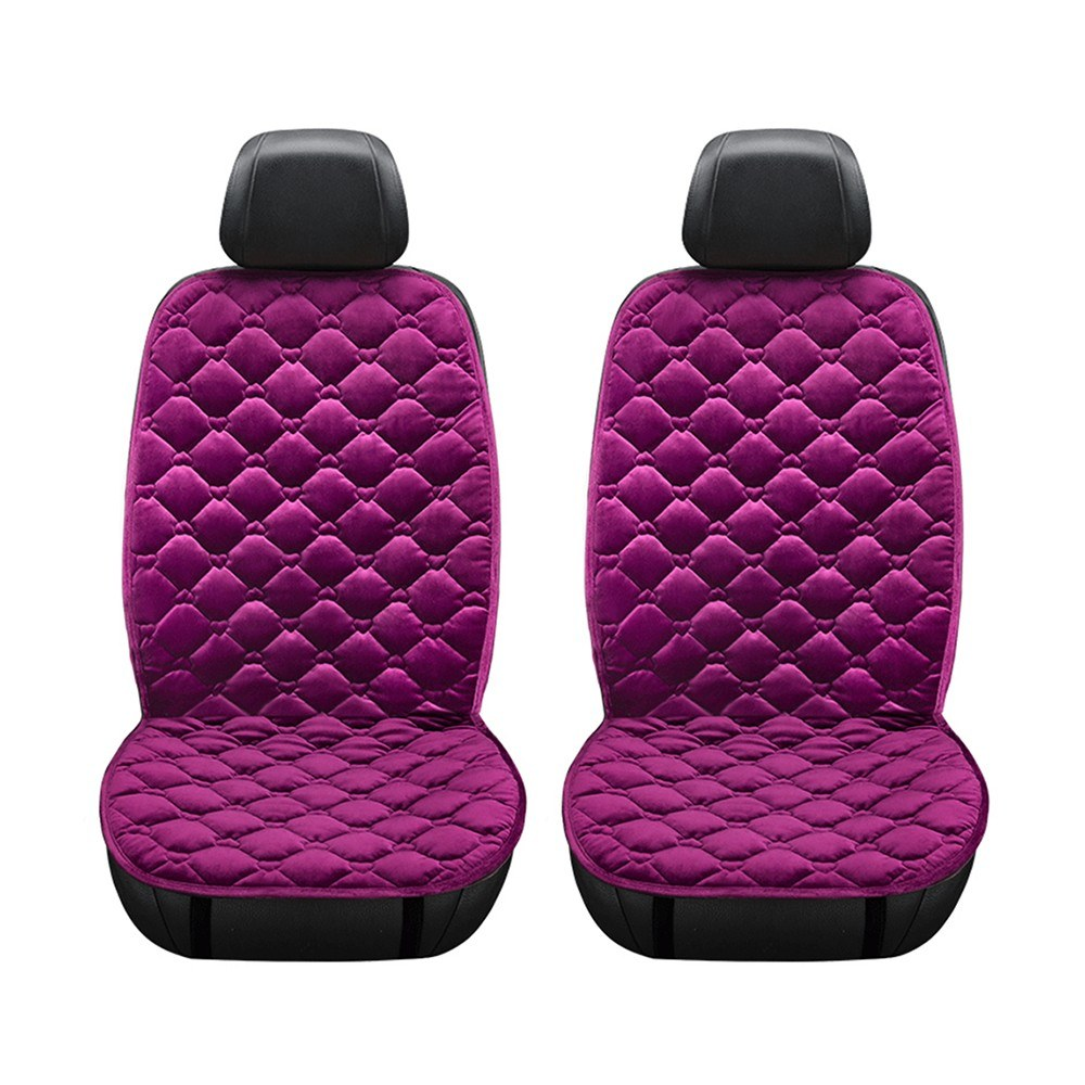 2in1 12V Car Front Seat Heating Cover Pad with Intelligent Temperature Controller Winter Heater Velvet