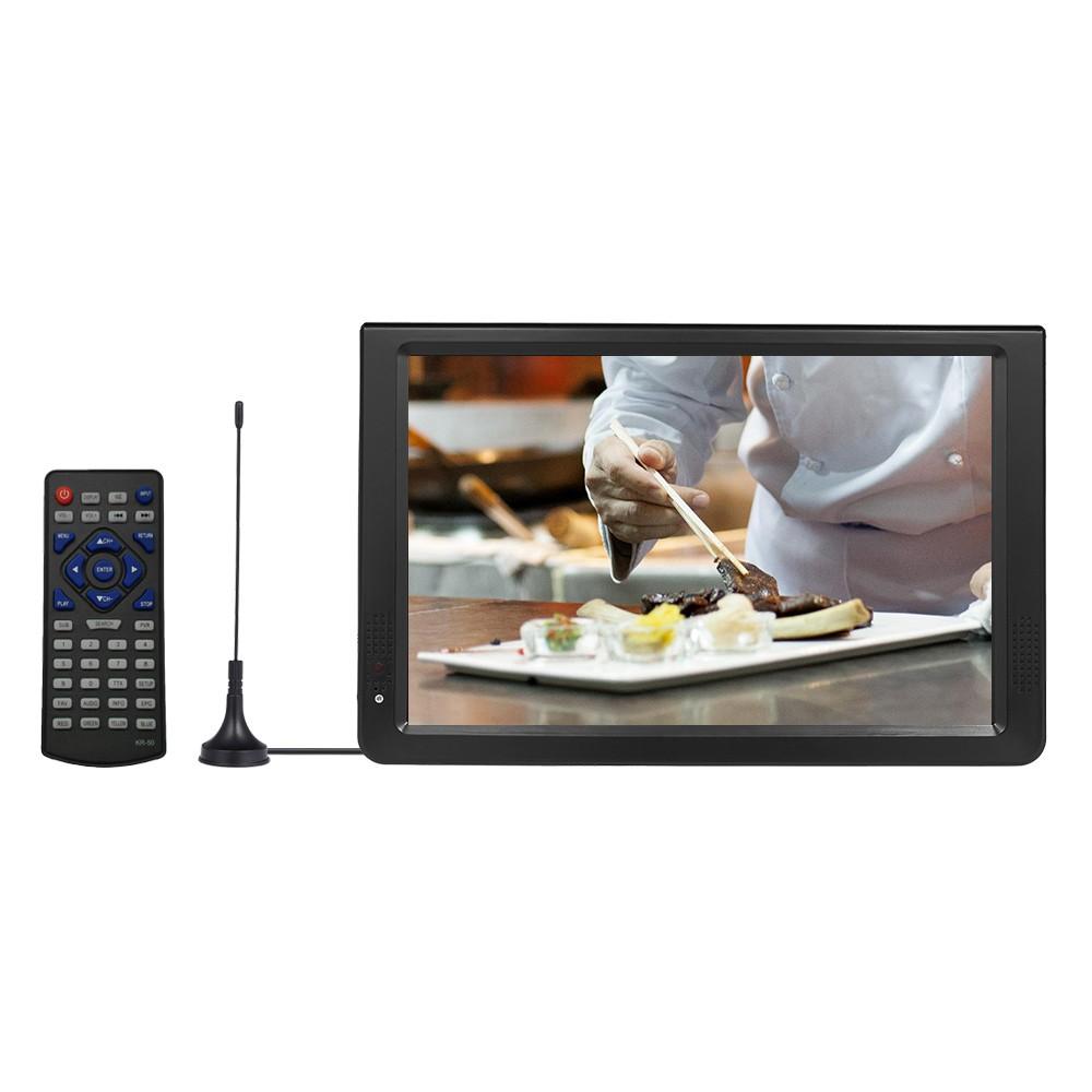 D12 11.6 Inches Portable Multimedia Player DVB-T2 TV Tuner Receiver DTV ATV FM Radio PVR Built-in Speakers HD VGA Input AV IN OUT SD Card Slot