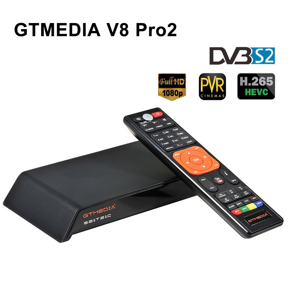 GTMEDIA V8 Pro2 DVB-S2 TV Receiver HD 1080P Set Top Box Digital Video Broadcasting Receiver Built-in WiFi Support H.265