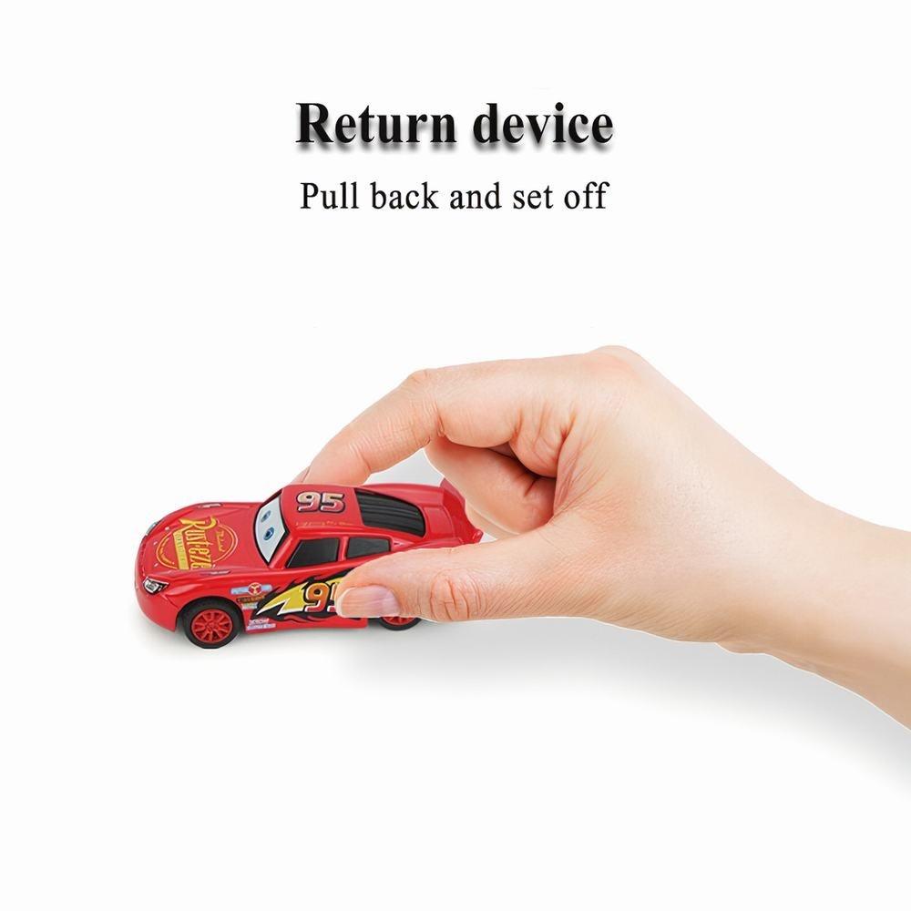 Disney Pixar Cars 1/55 Diecast Vehicle Metal Alloy Pull Back Car Lightning McQueen Cruz Mater Jackson Storm Ramirez Boy Kid Christmas Gift