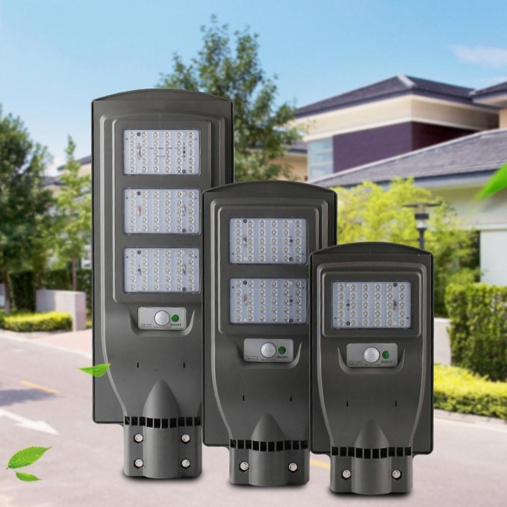 6V 40W LED Solar Powered Wall Street Light PIR Motion Outdoor Garden Lamp
