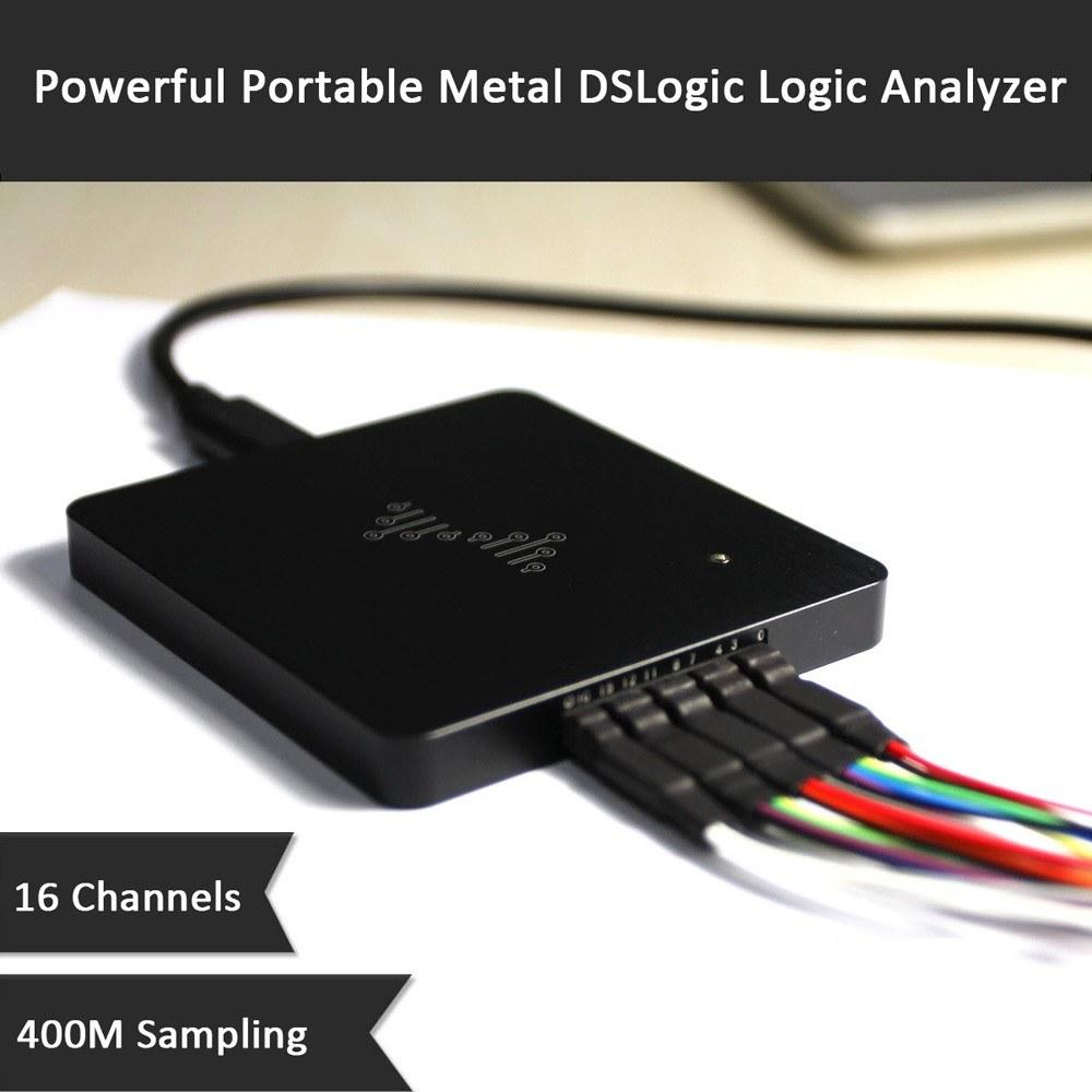 Powerful Portable Metal DSLogic Logic Analyzer 16 Channels 400M Sampling USB-based Debugging Logic Analyzer