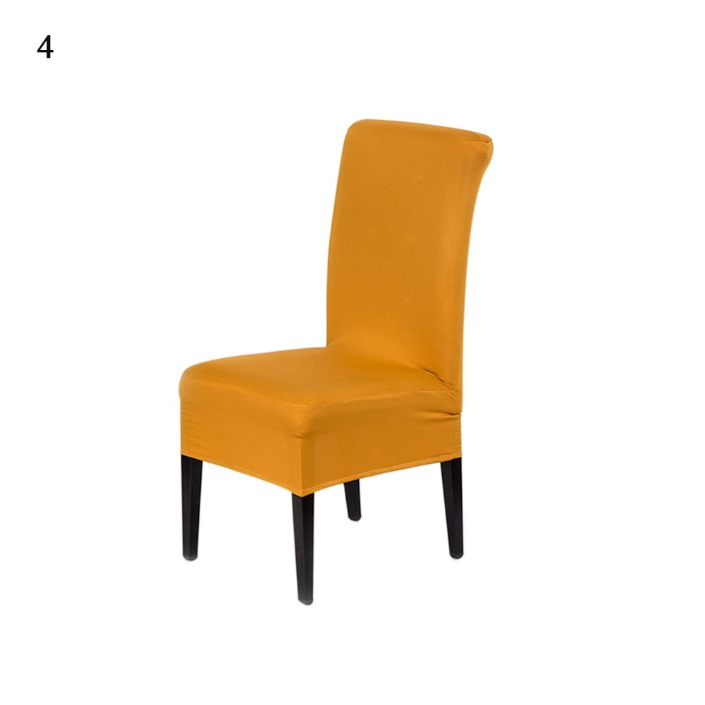Universal Removable Washable Elastic Cloth Stretch Chair Cover Slipcover 21 Colors Available Home Dining Room Hotel Wedding Banquet Party Decorations