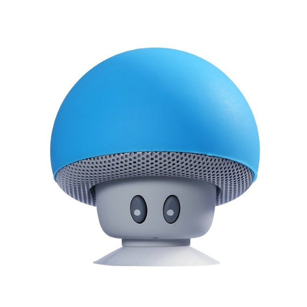 BT music holder cartoon small mushroom head BT speaker small suction cup creative mini mobile phone flat bracket portable outdoor small stereo black other