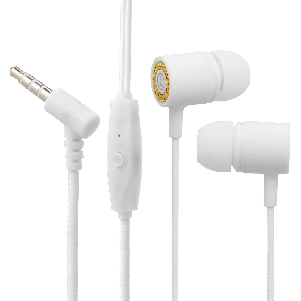 In-ear Headphones Wired Headset 3.5mm Jack Stereo Earphones Compatible with Iphone Smartphone MP3 and Multi-color Optional
