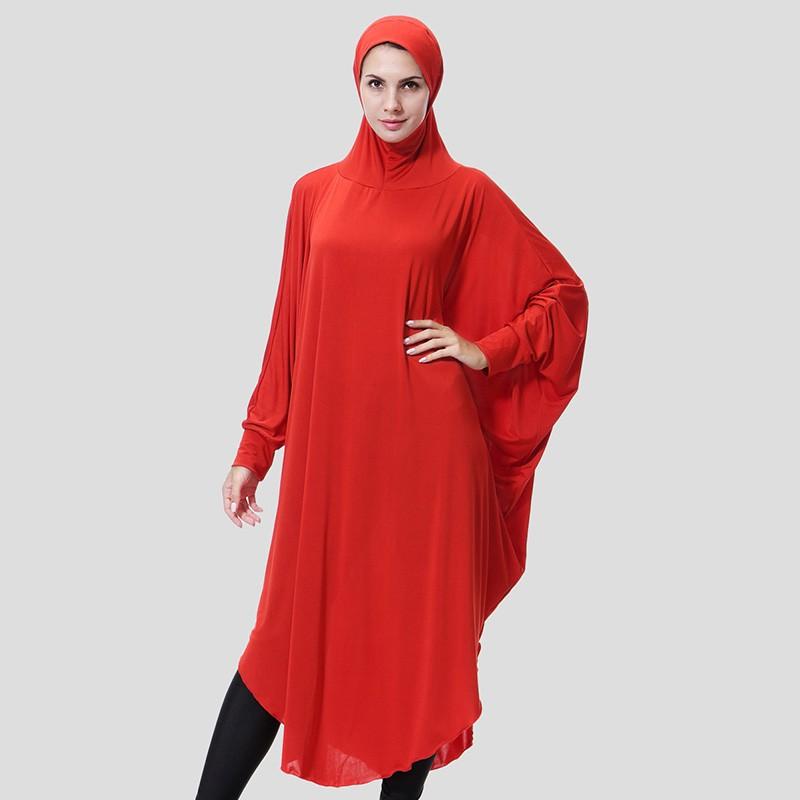Muslim Women Long Hijab Islamic Ramadan Arab Solid Color Lady Scarf Headscarf Middle East Robe with Hood Hijabs Dress